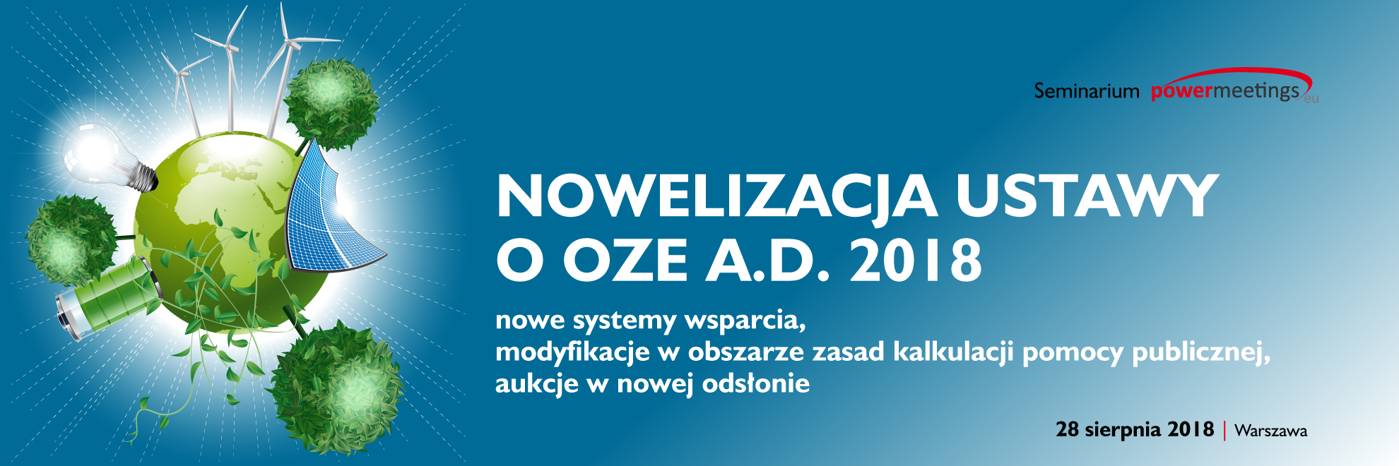 Nowelizacja ustawy o OZE – nowy termin seminarium