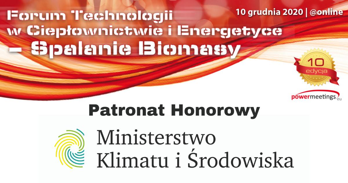 Ministerstwo Klimatu i Środowiska Patronem Honorowym Forum