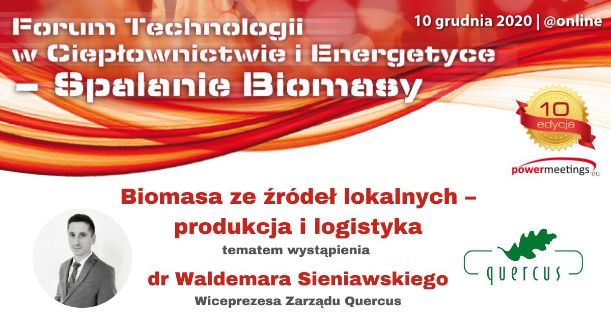 Biomasa ze źródeł lokalnych – doświadczenia z produkcji i logistyki