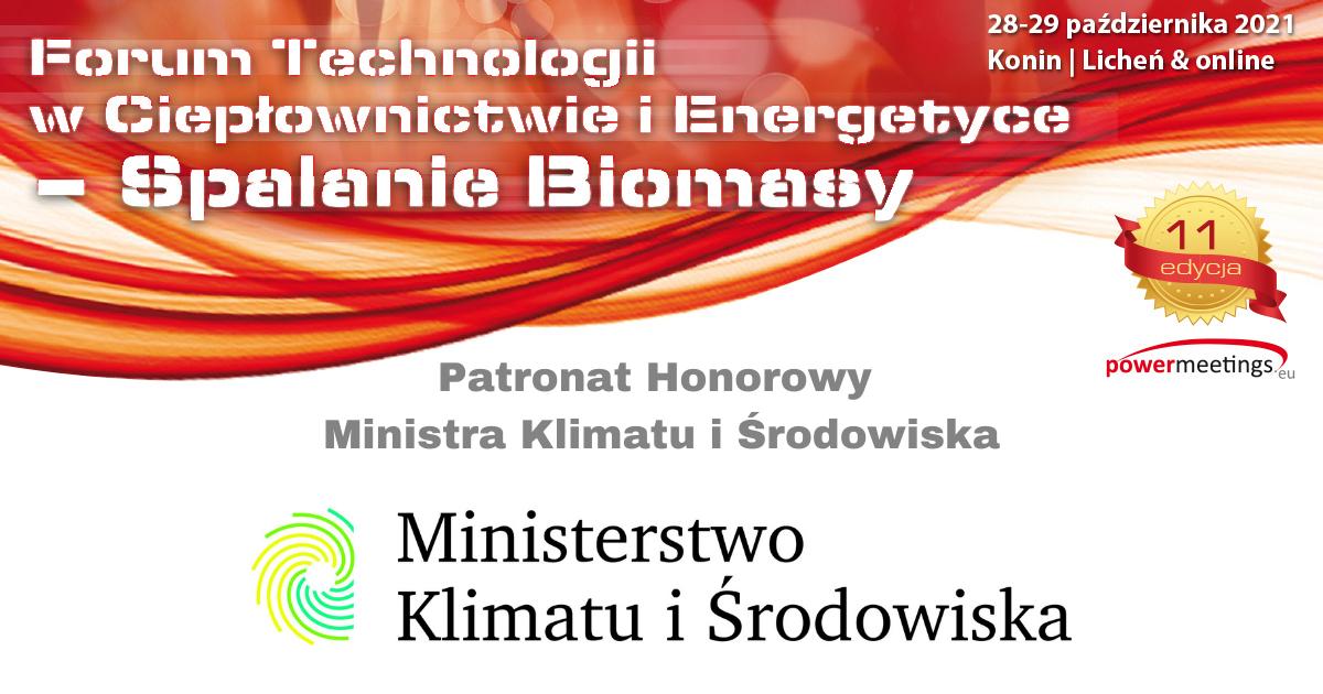Ministerstwo Klimatu i Środowiska Patronem Honorowym jesiennego Forum Biomasy