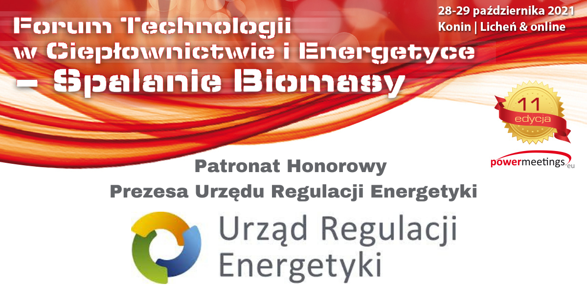 Prezes URE Patronem Honorowym jesiennego Forum Biomasy