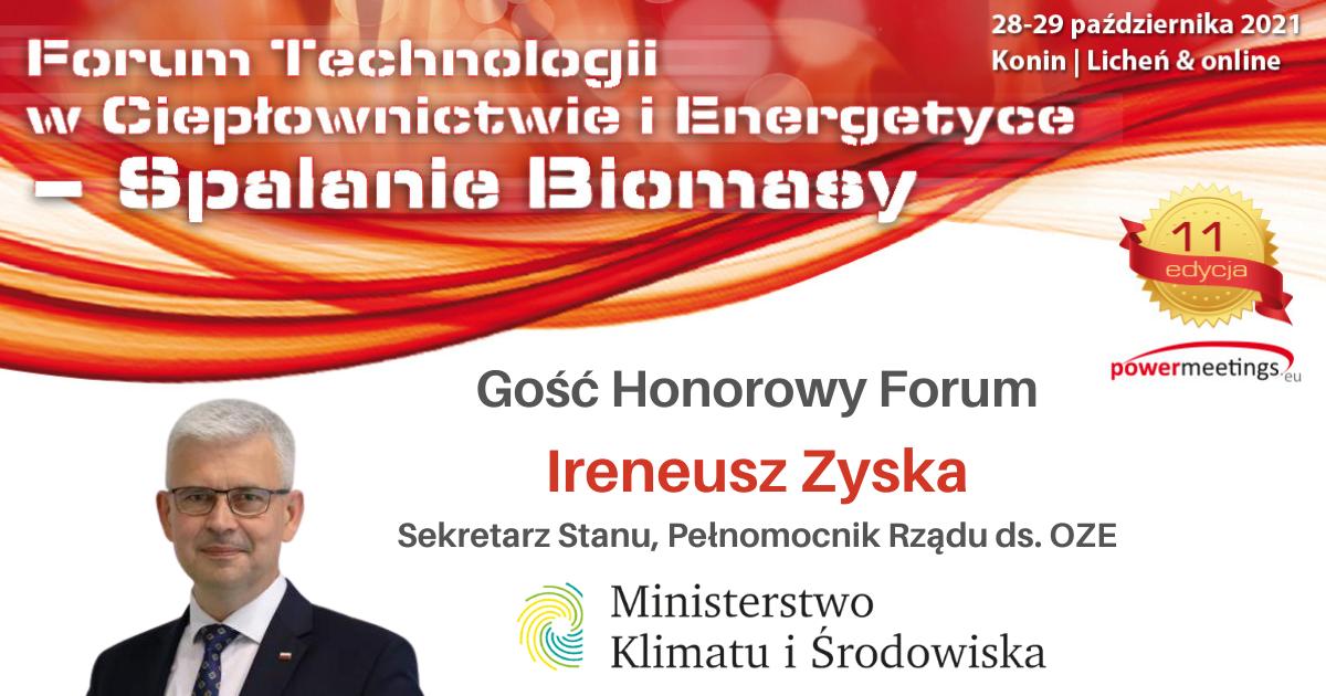Minister Ireneusz Zyska na Forum Biomasy w Koninie